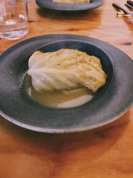 レモンソースのロールキャベツ